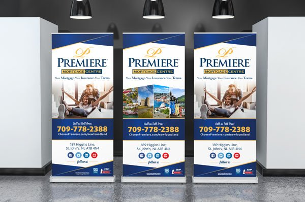 Premiere Mortgage Banner Stands