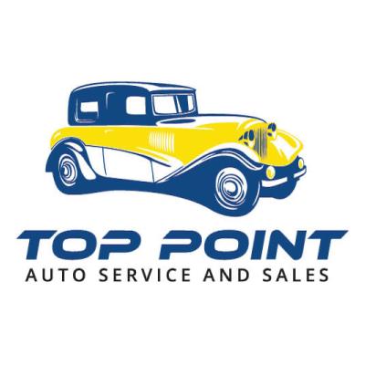 Top Point Auto Service And Sales Logo Design Halifax